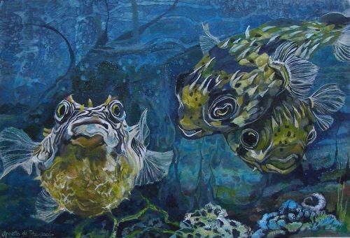 Schilderijen-vissen-Annette-de-Roo-00003